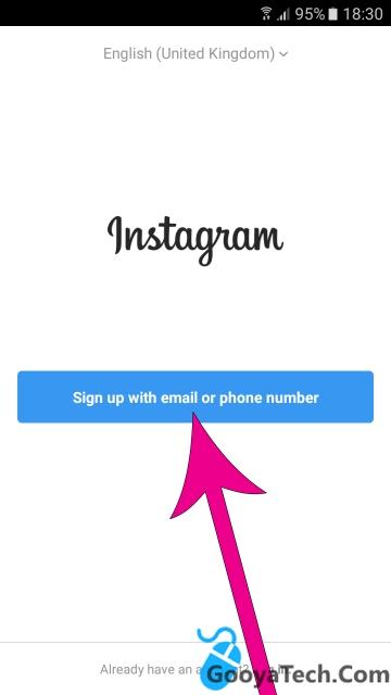 ثبت نام و ساخت اکانت در اینستاگرام