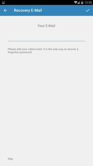 قرار دادن ایمیل بازیابی تلگرام
