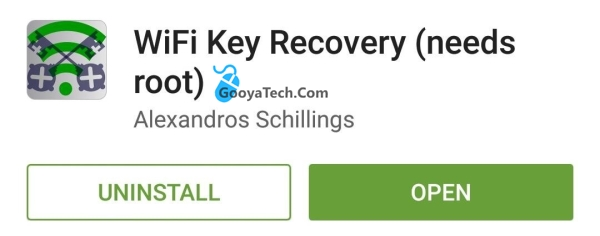 دانلود برنامه مشاهده رمز وای فای ذخیره شده در اندروید