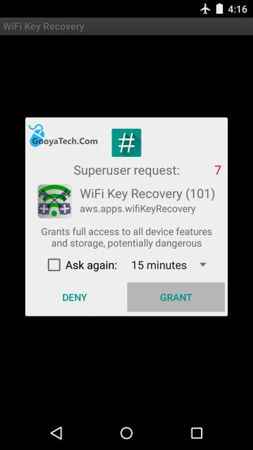 باز کردن برنامه مشاهده رمز وای فای ذخیره شده در اندروید