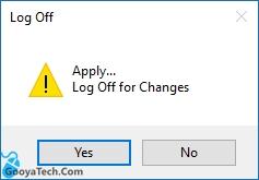 Log off کردن ویندوز برای مسدود کردن