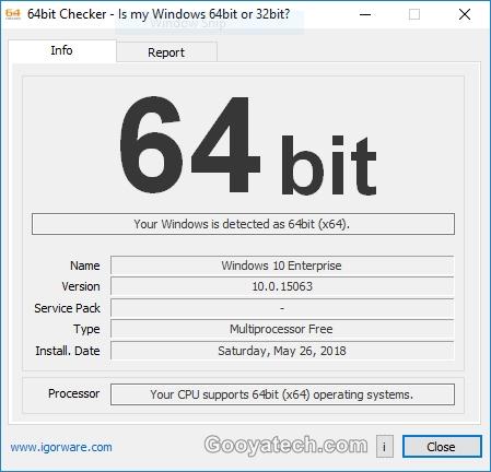 آموزش پی بردن به نوع معماری ویندوز با استفاده از برنامه 64Bit Checker