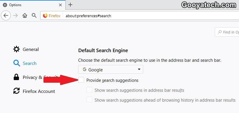 غیر فعال کردن قابلیت پیشنهاد گوگل