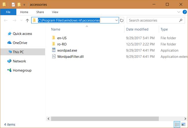 باز کردن Wordpad با استفاده از برنامه Run
