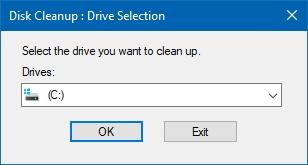 """استفاده از دستور """"cleanmgr"""" برای اجرای برنامه پاکسازی درایوها"""