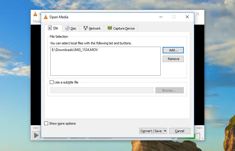 کاهش حجم فایل ویدیویی با vlc